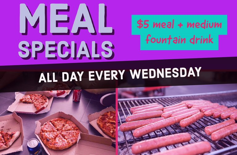 Meal Special Promo Graphic